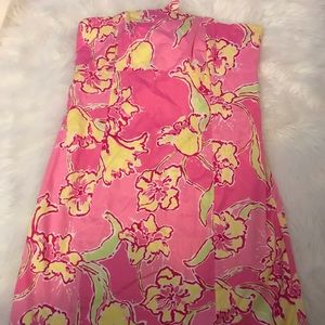 Lilly Pulitzer strapless Lilly dress size 6